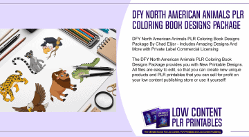 DFY North American Animals PLR Coloring Book Designs Package