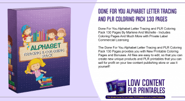 Done For You Alphabet Letter Tracing and PLR Coloring Pack 130 Pages 2