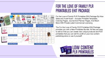 For the Love of Family PLR Printables EKit Package