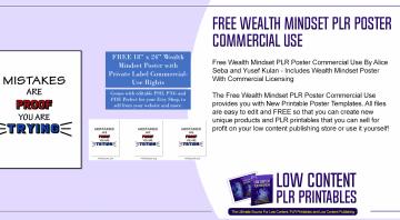 Free Wealth Mindset PLR Poster Commercial Use