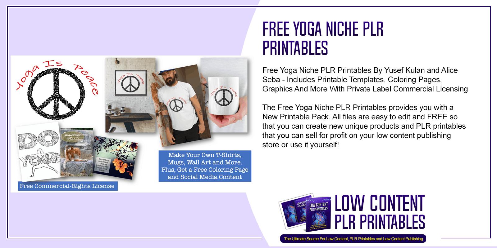 Free Yoga Niche PLR Printables