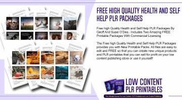 Free high Quality Health and Self Help PLR Packages