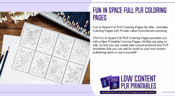Fun In Space Full PLR Coloring Pages