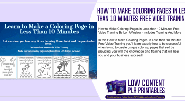 How to Make Coloring Pages in Less than 10 Minutes Free Video Training