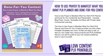 How to Use Prayer to Manifest What You Want PLR Planner and Done for You Content