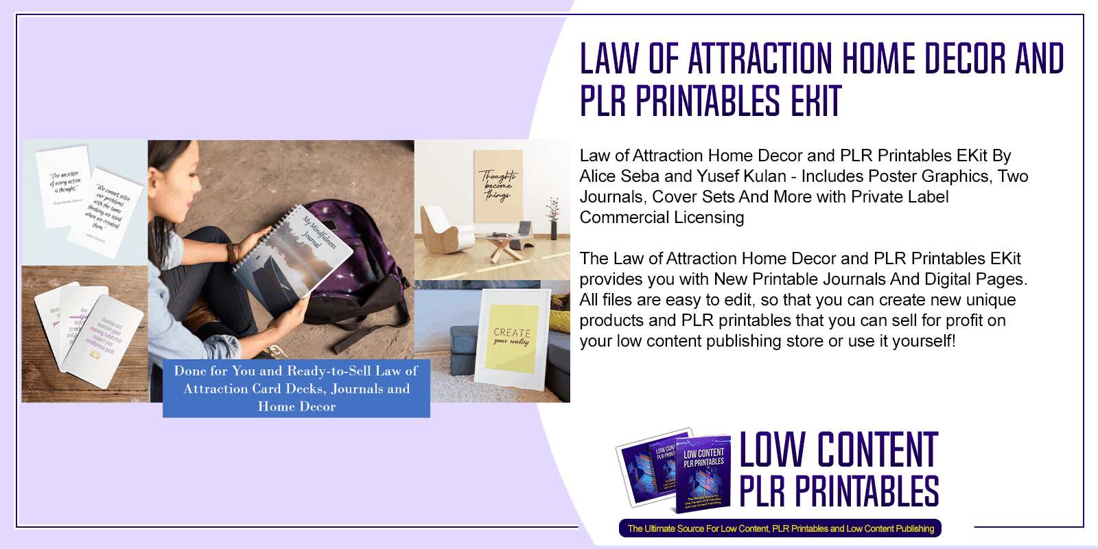 Law of Attraction Home Decor and PLR Printables EKit