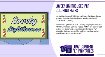 Lovely Lighthouses PLR Coloring Pages