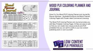 Mood PLR Coloring Planner and Journal