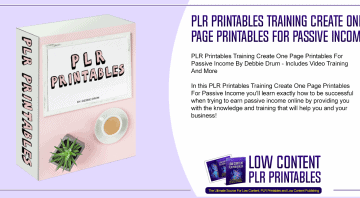 PLR Printables Training Create One Page Printables For Passive Income