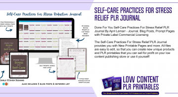 Self Care Practices For Stress Relief PLR Journal