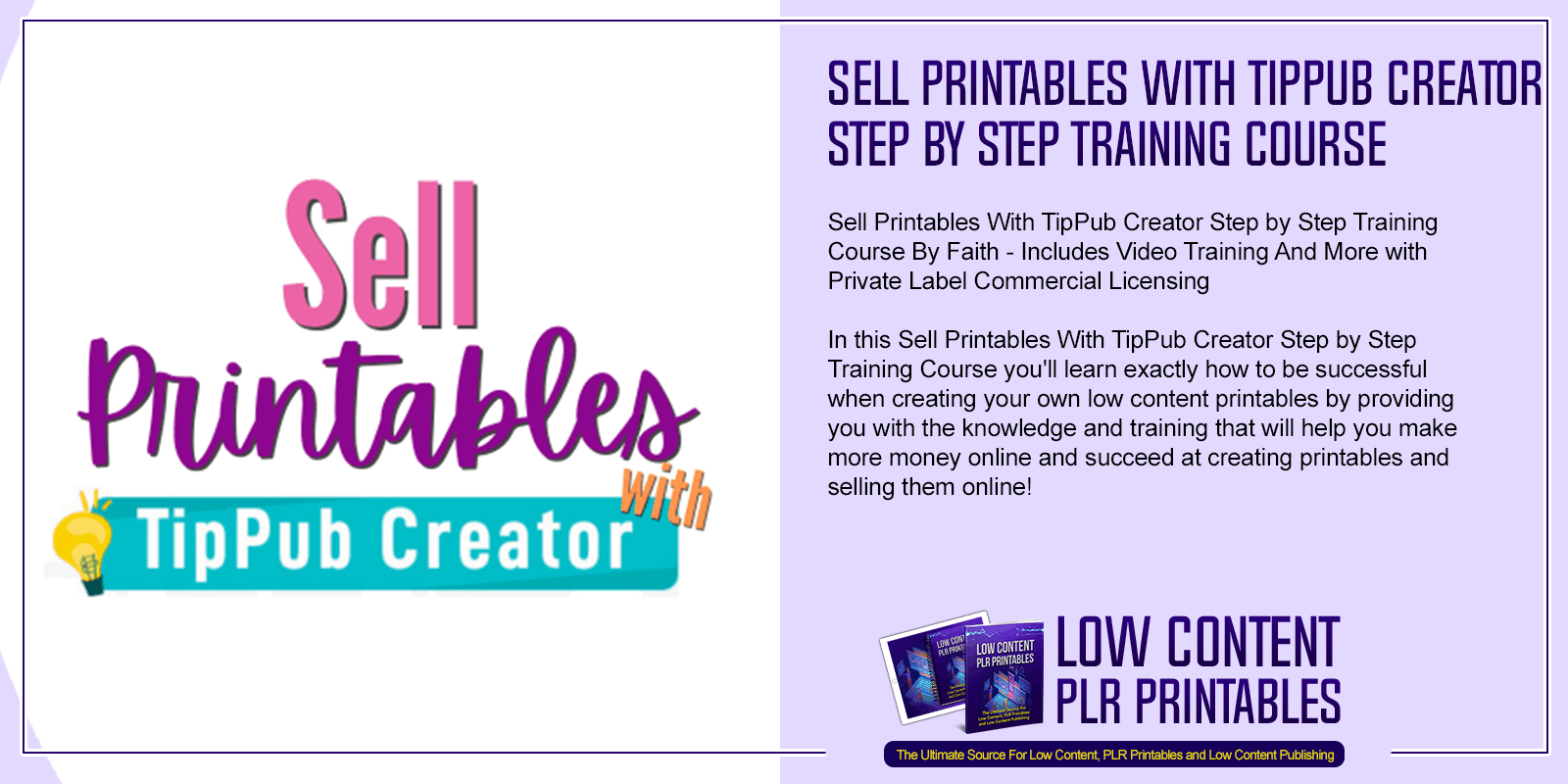 Sell Printables With TipPub Creator Step by Step Training Course