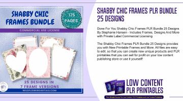 Shabby Chic Frames PLR Bundle 25 Designs