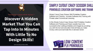 Simply Cutout Crazy Scissor Skill Printables Creation Software and Training