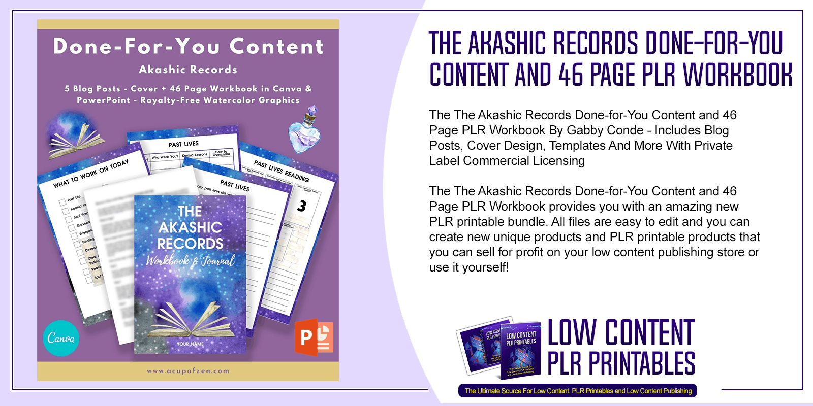 The Akashic Records Done for You Content and 46 Page PLR Workbook