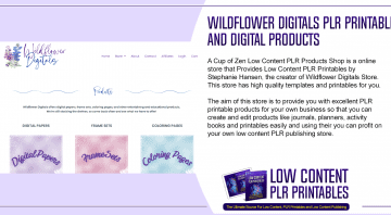Wildflower Digitals PLR Printables and Digital Products