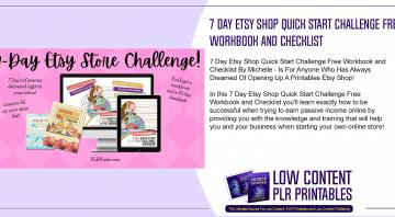 7 Day Etsy Shop Quick Start Challenge Free Workbook and Checklist