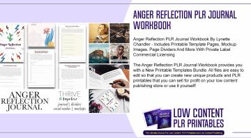 Anger Reflection PLR Journal Workbook