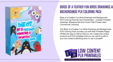 Birds of a Feather Fun Birds Drawings and Backgrounds PLR Coloring Pack