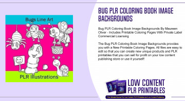 Bug PLR Coloring Book Image Backgrounds