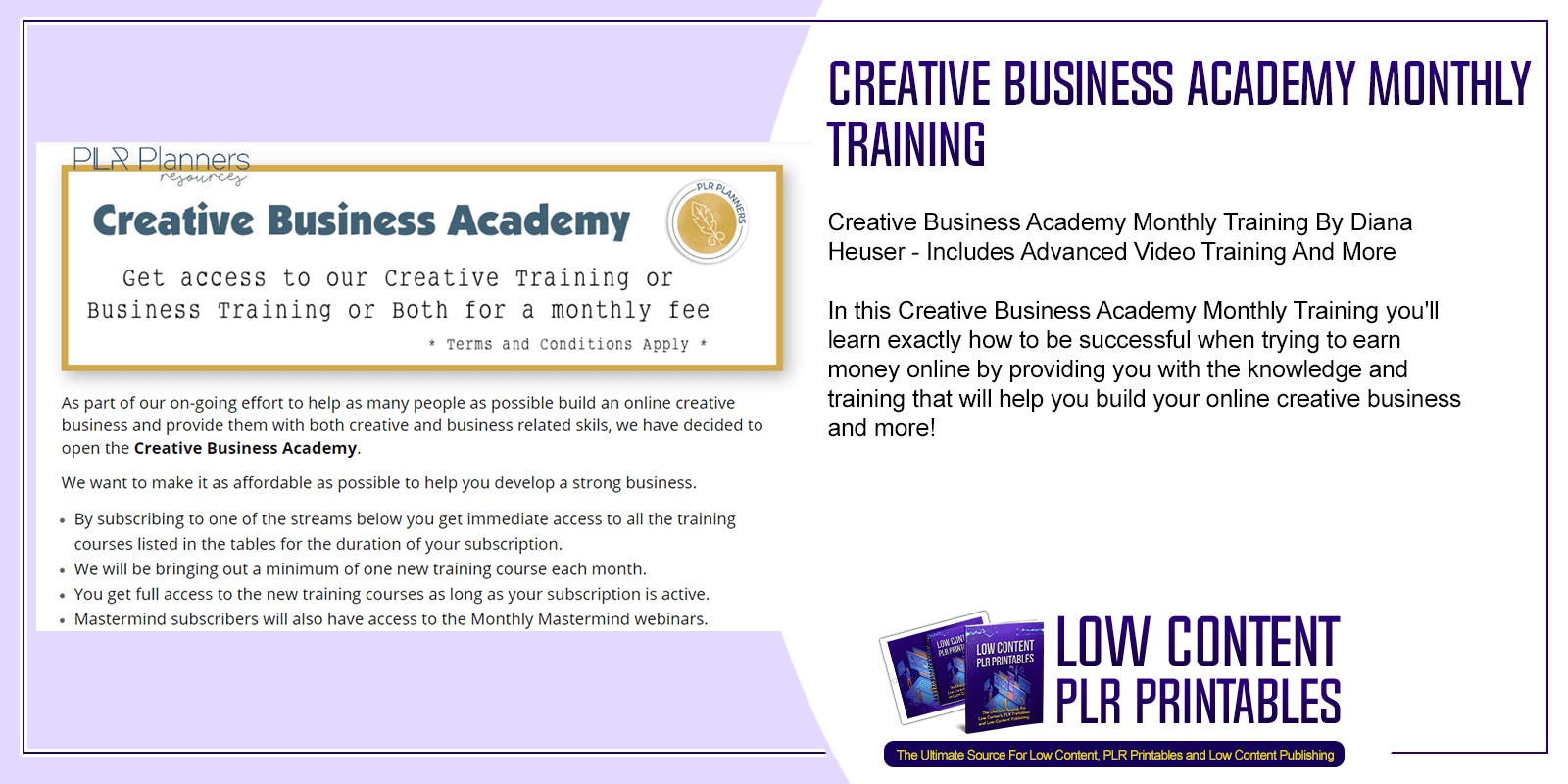 Creative Business Academy Monthly Training