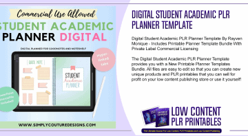 Digital Student Academic PLR Planner Template