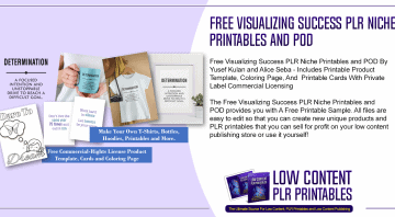 Free Visualizing Success PLR Niche Printables and POD