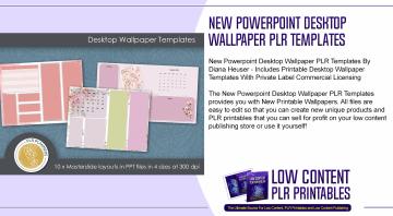 New Powerpoint Desktop Wallpaper PLR Templates