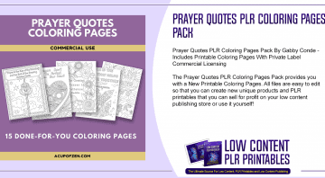 Prayer Quotes PLR Coloring Pages Pack