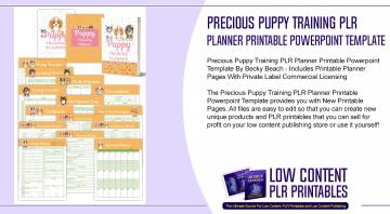 Precious Puppy Training PLR Planner Printable Powerpoint Template