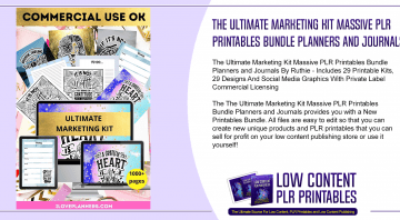 The Ultimate Marketing Kit Massive PLR Printables Bundle Planners and Journals