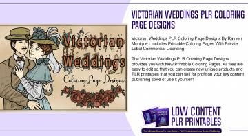 Victorian Weddings PLR Coloring Page Designs
