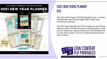 2021 New Years Planner PLR