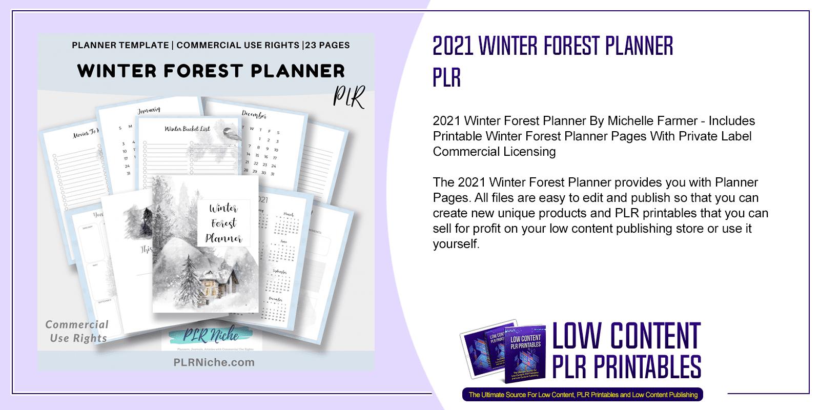 2021 Winter Forest Planner