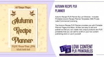 Autumn Recipe PLR Planner