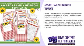 Awards Family Reunion PLR Template