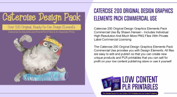 Catercise 200 Original Design Graphics Elements Pack Commercial Use