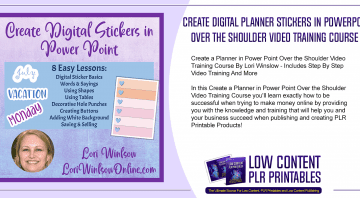 Create Digital Planner Stickers in Power Point Over the Shoulder Video Training Course