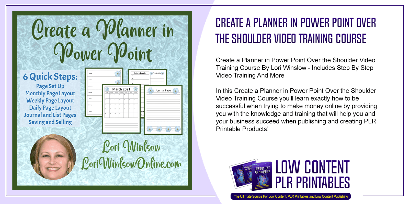 Create a Planner in Power Point Over the Shoulder Video Training Course