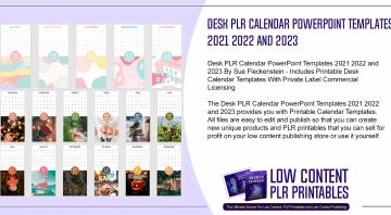 Desk PLR Calendar PowerPoint Templates 2021 2022 and 2023