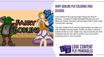 Fairy Goblins PLR Coloring Page Designs