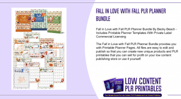 Fall in Love with Fall PLR Planner Bundle