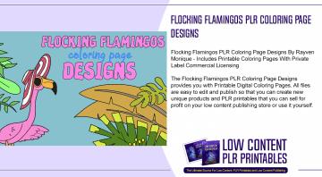 Flocking Flamingos PLR Coloring Page Designs