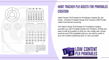 Habit Tracker PLR Assets for Printables Creation