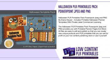 Halloween PLR Printables Pack Powerpoint Jpeg and PNG