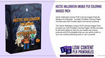 Hectic Halloween Unique PLR Coloring Images Pack