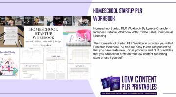 Homeschool Startup PLR Workbook