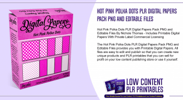 Hot Pink Polka Dots PLR Digital Papers Pack PNG and Editable Files