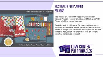 Kids Health PLR Planner Package