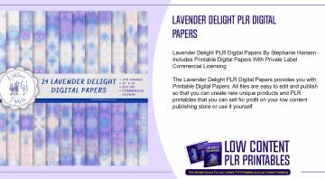 Lavender Delight PLR Digital Papers