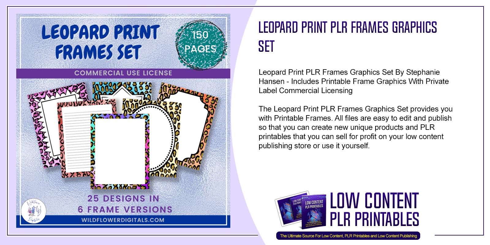 Leopard Print PLR Frames Graphics Set